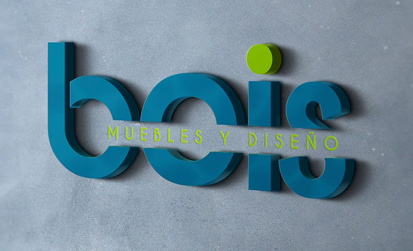 Diseño de logo muebleria Bois 3D