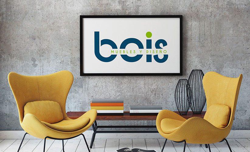 Diseño de logo muebleria Bois