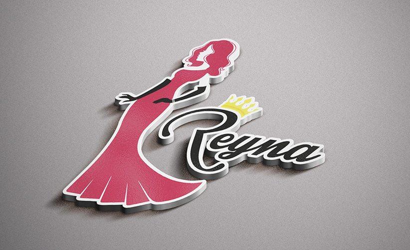 Diseño de logo en 3D Reyna