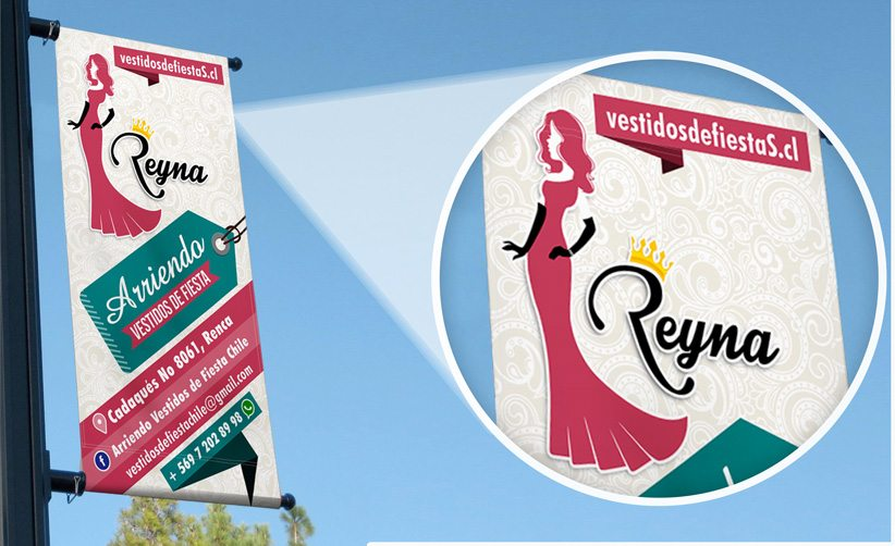 Diseño de pendón Reyna