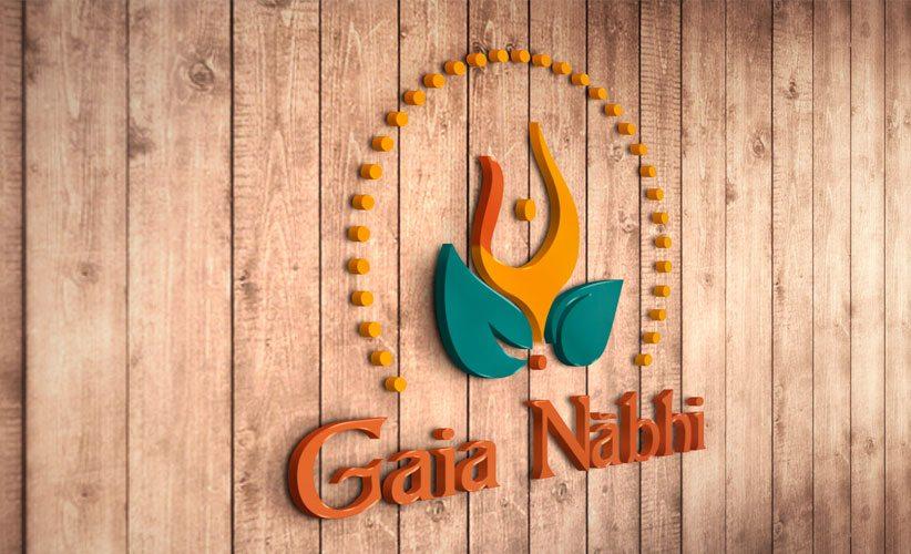 Diseño de logo holistico 3D Gaia Nabhi