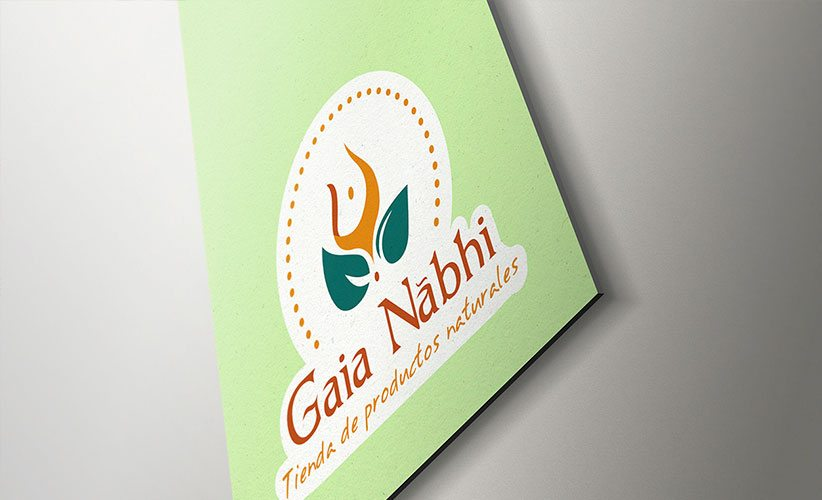 Diseño de logo holistico Gaia Nabhi