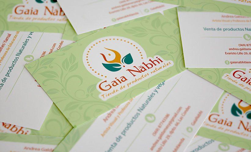 Diseño de tarjetas de presentación holistico 3D Gaia Nabhi