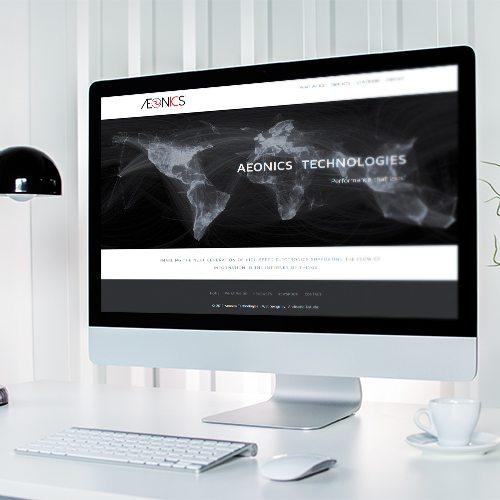 Diseño de página web Aeonics Technologies