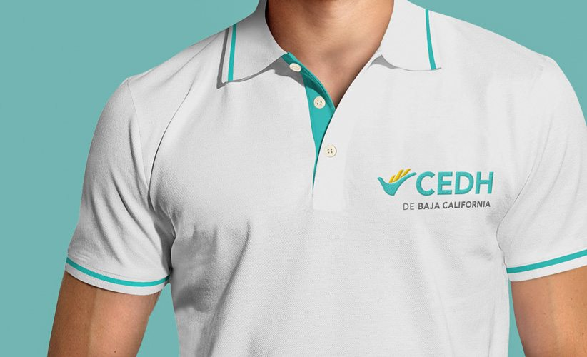 Diseño de logo Bordado CEDH Baja California