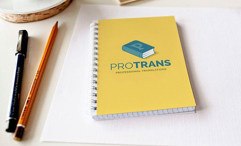 Diseño de Logotipo Libro Protrans Traducciones