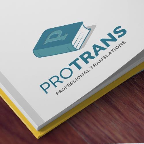 Diseño de logo traducción Protrans