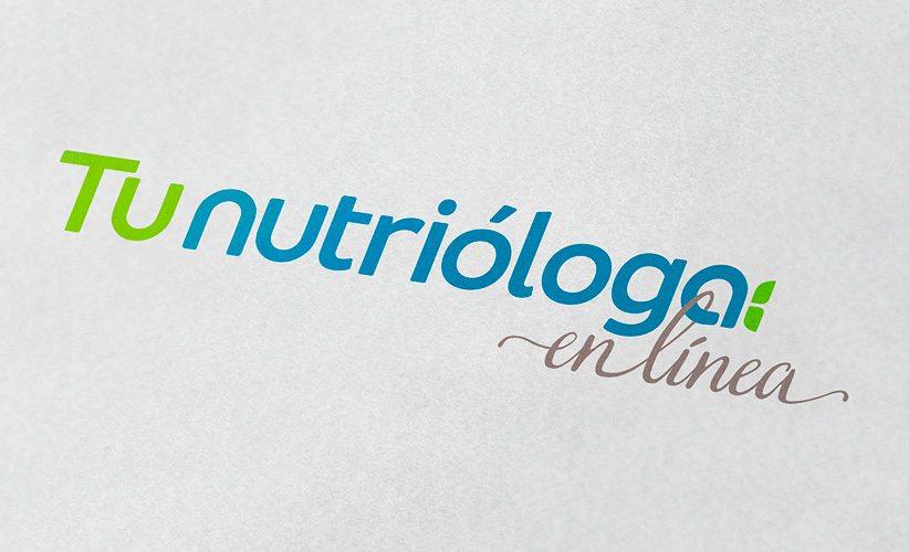 Diseño de logo Tu Nutrióloga en Línea