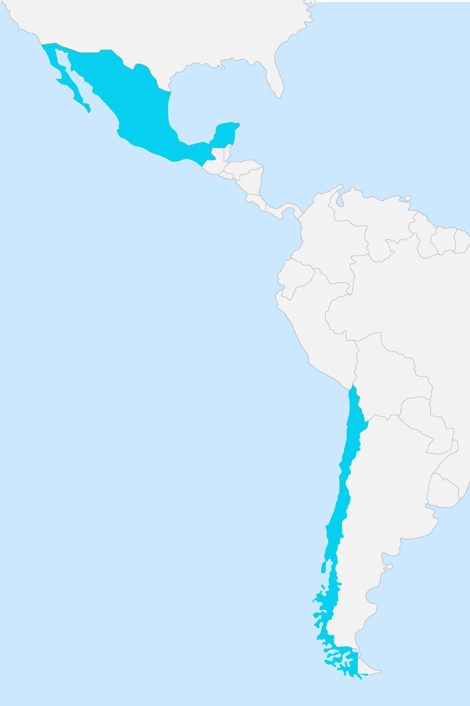 Mapa Chile México