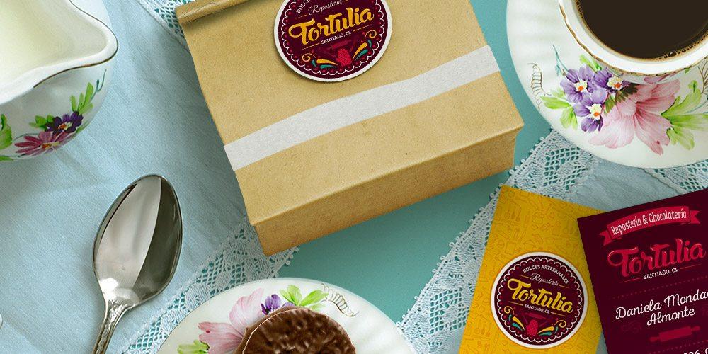Diseño de portada repostería Tortulia tarjetas