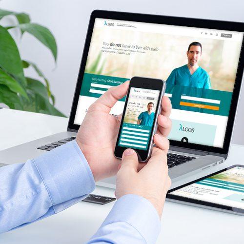 Diseño de página web landing page Clínica Algos