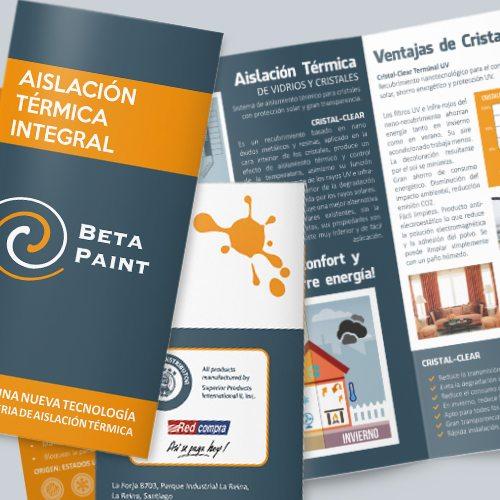 Diseño de Tríptico corporativo BetaPaint