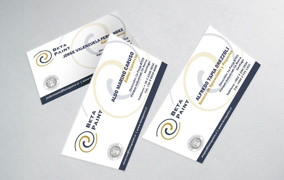 Diseño de tarjetas de presentación Betapaint