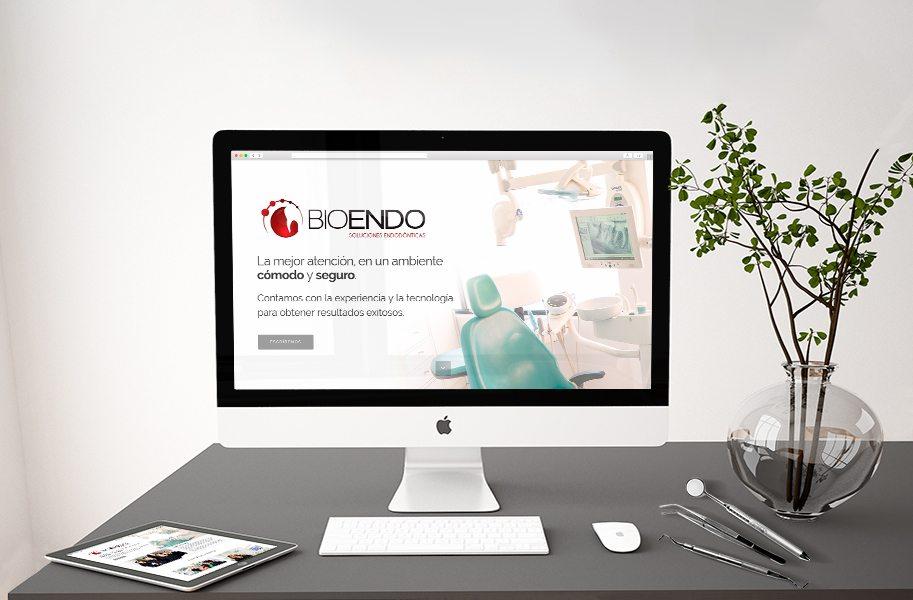 Diseño de página web clínica endodoncia bioendo.com.mx