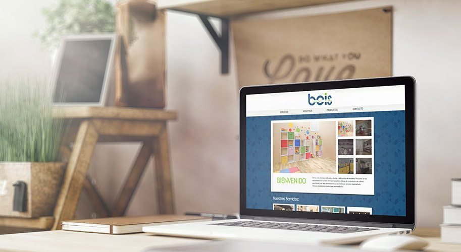 Diseño de página web Mueblería Bois