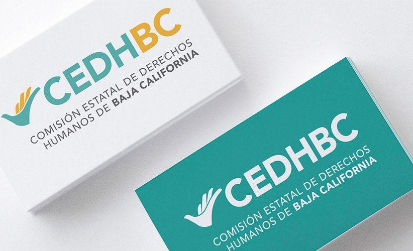Diseño de tarjetas de presentación CEDH Baja California