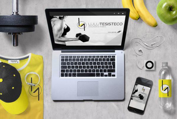 Diseño de página web entrenador personal Lulu Tesisteco landing page