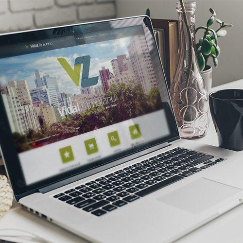 Diseño de página web inmobiliaria vidal zamorano