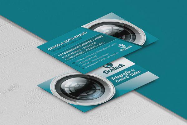 Diseño de tarjetas de presentación fotografo camara