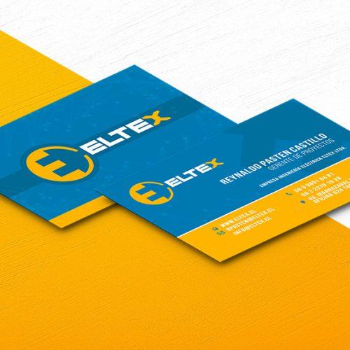 Diseño de tarjetas de presentación Eltex ingeniería electrica
