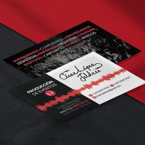 Diseño de tarjetas de presentación Producción de Eventos