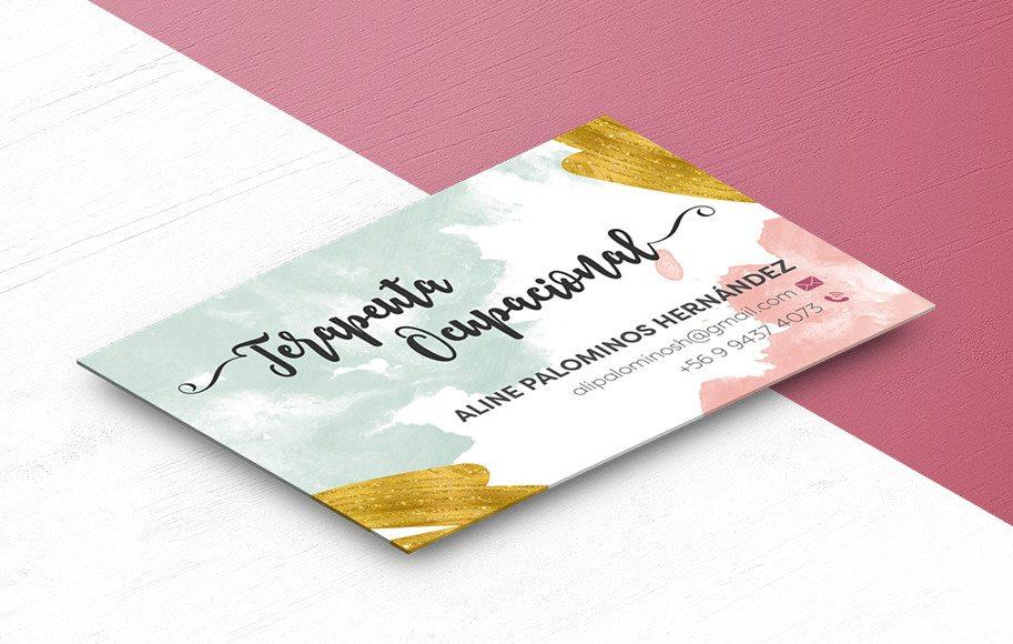 Diseño de tarjetas de presentación Terapeuta Ocupacional