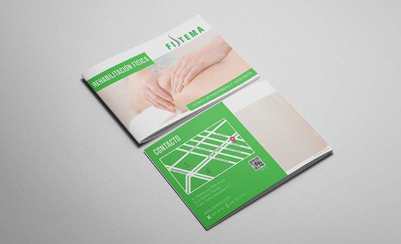 Diseño de folleto, brochure, catalogo Clínica Fistema