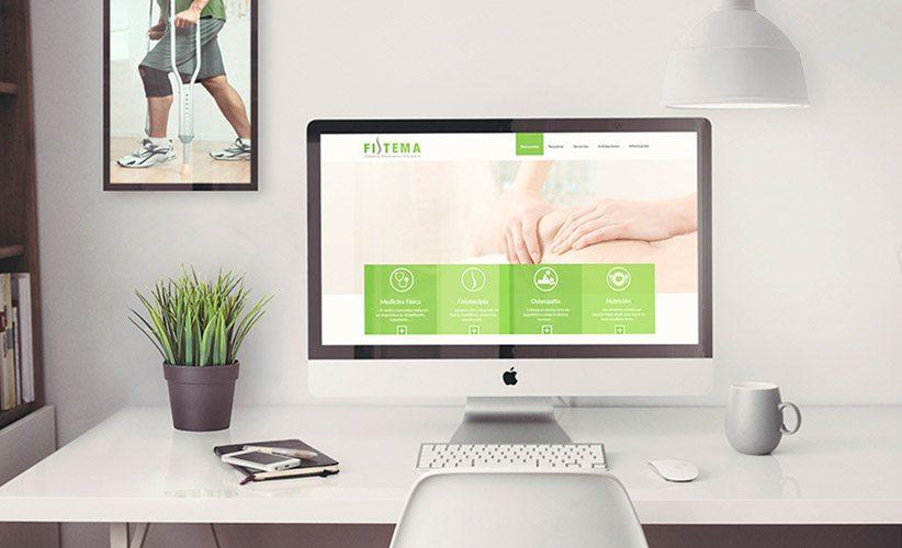 Diseño de página web corporativa Clínica Fistema